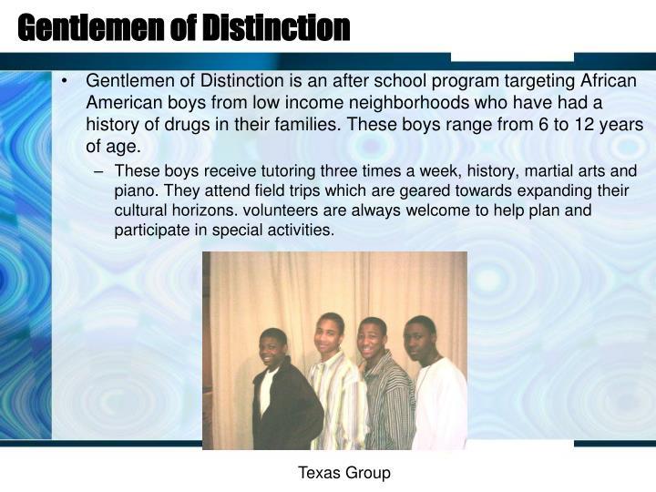 Gentlemen of Distinction