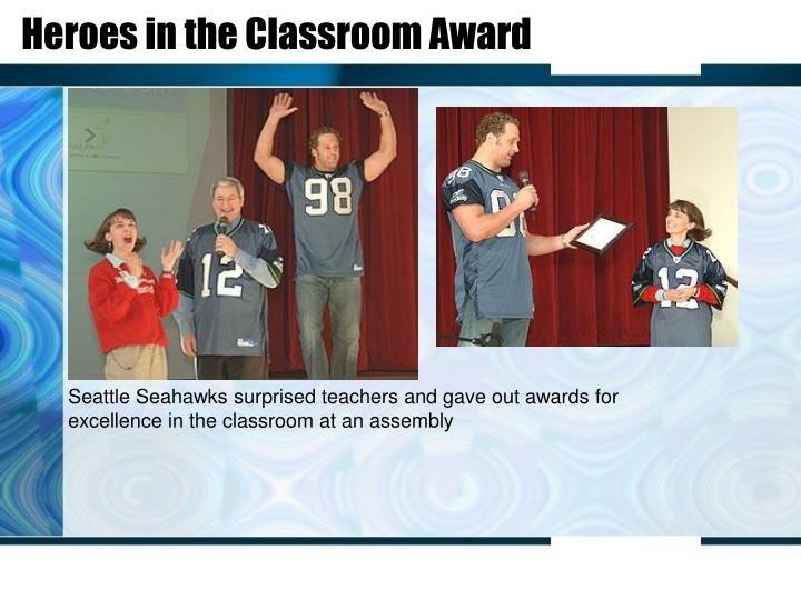 Heroes in the Classroom Award