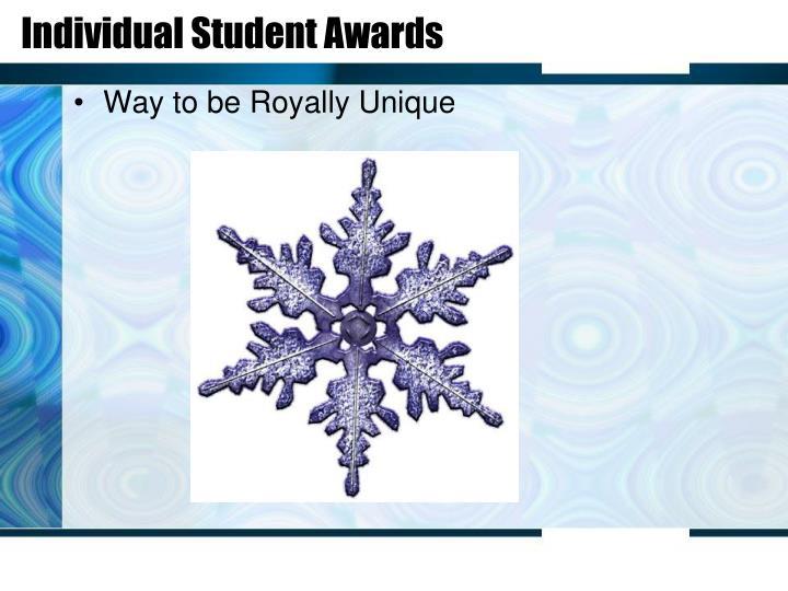 Individual Student Awards