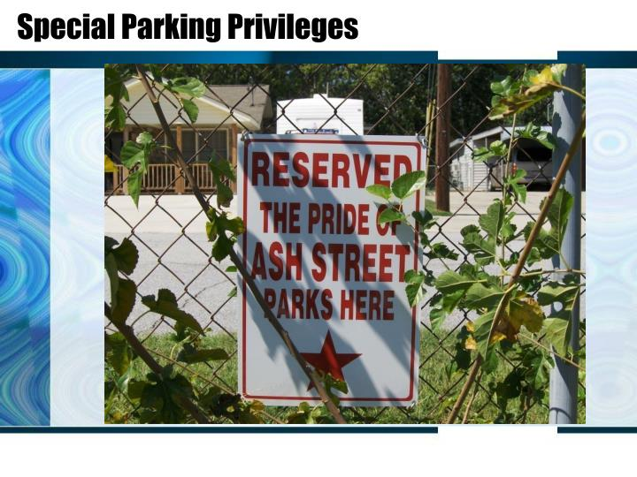 Special Parking Privileges