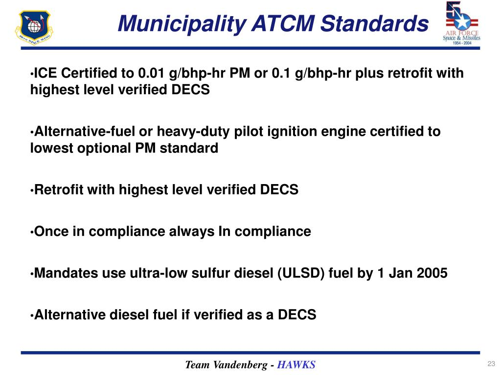 Municipality ATCM Standards