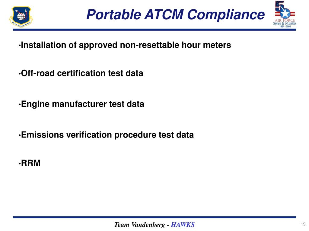 Portable ATCM Compliance