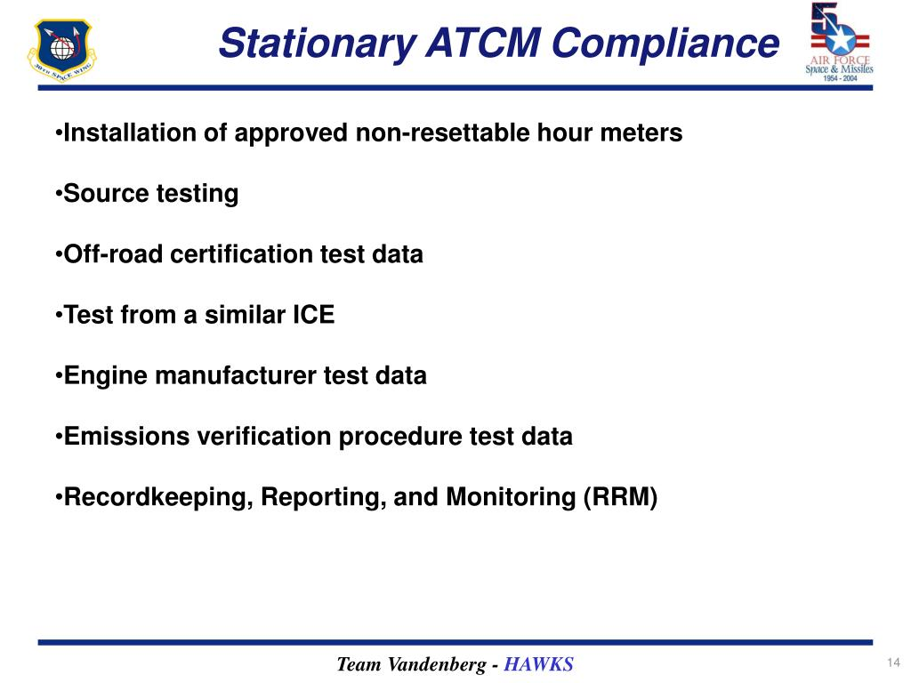 Stationary ATCM Compliance