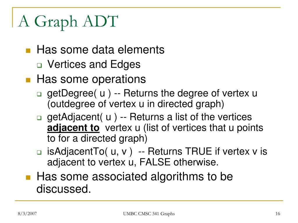 A Graph ADT