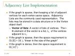 adjacency list implementation