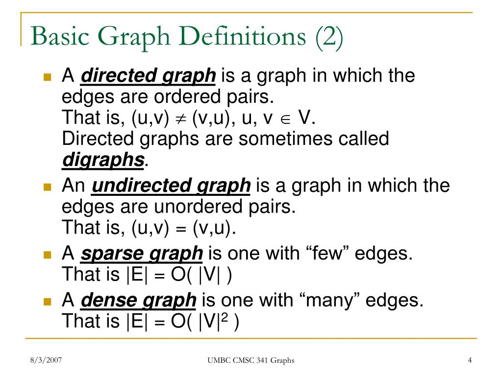 Basic Graph Definitions (2)