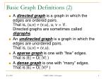 basic graph definitions 2