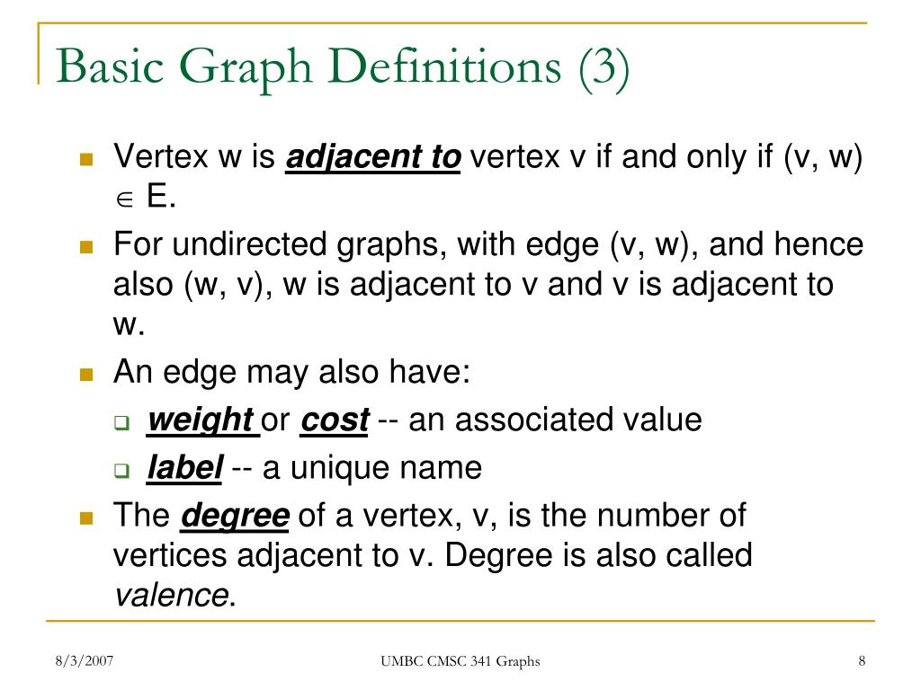 Basic Graph Definitions (3)