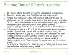 running time of dijkstra s algorithm