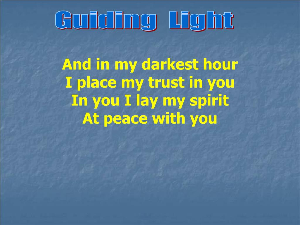 Guiding  Light