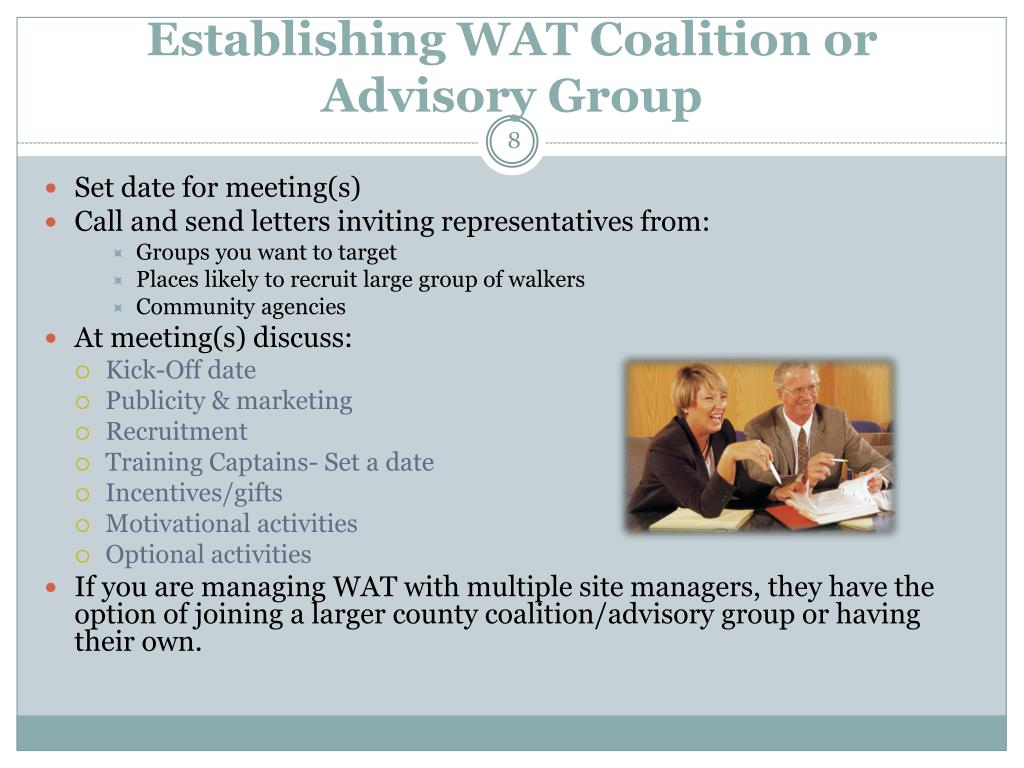 Establishing WAT Coalition or Advisory Group