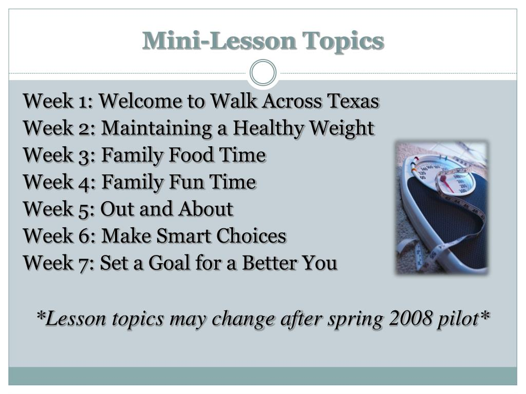 Mini-Lesson Topics