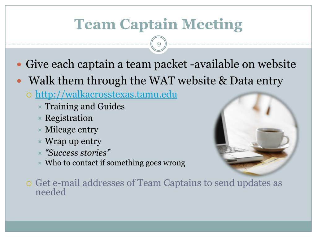 Team Captain Meeting