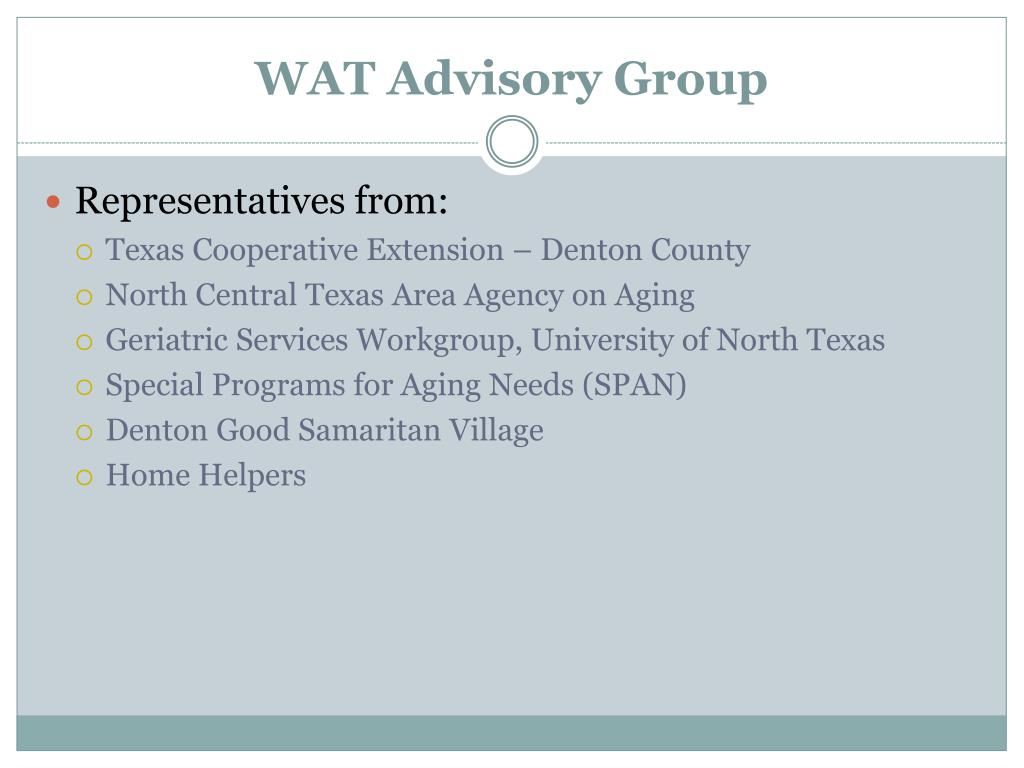 WAT Advisory Group