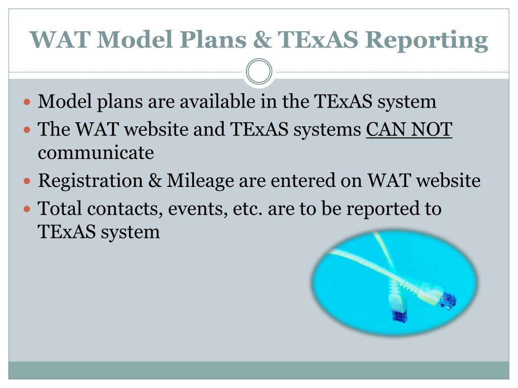 WAT Model Plans &