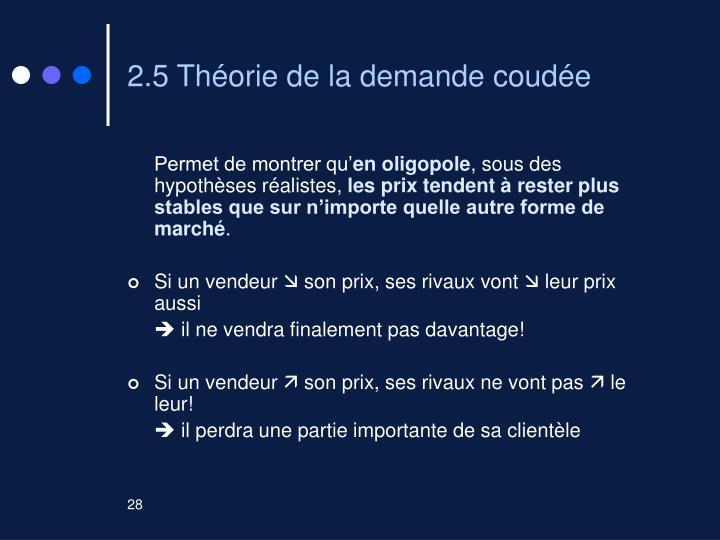 2.5 Théorie de la