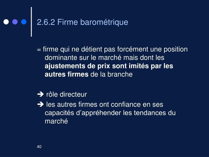 2.6.2 Firme barométrique