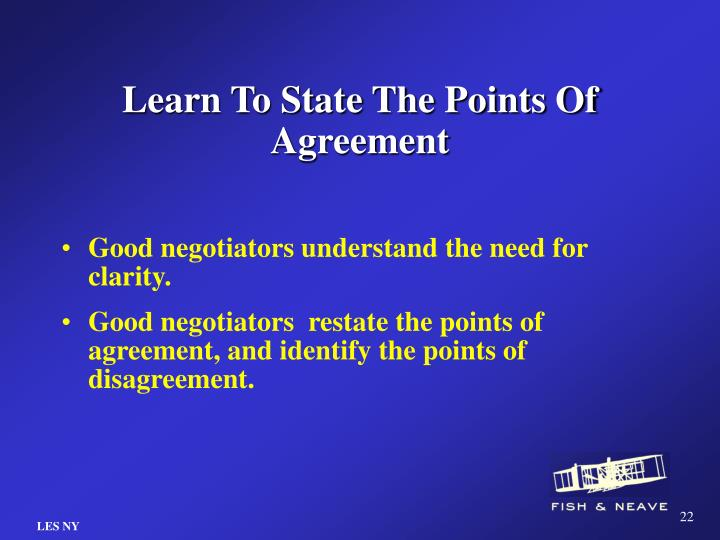 Learn To State The Points Of Agreement