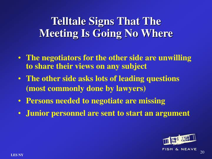 Telltale Signs That The Meeting Is Going No Where