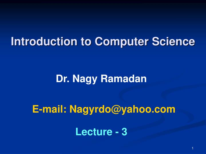 Introduction to computer science l.jpg