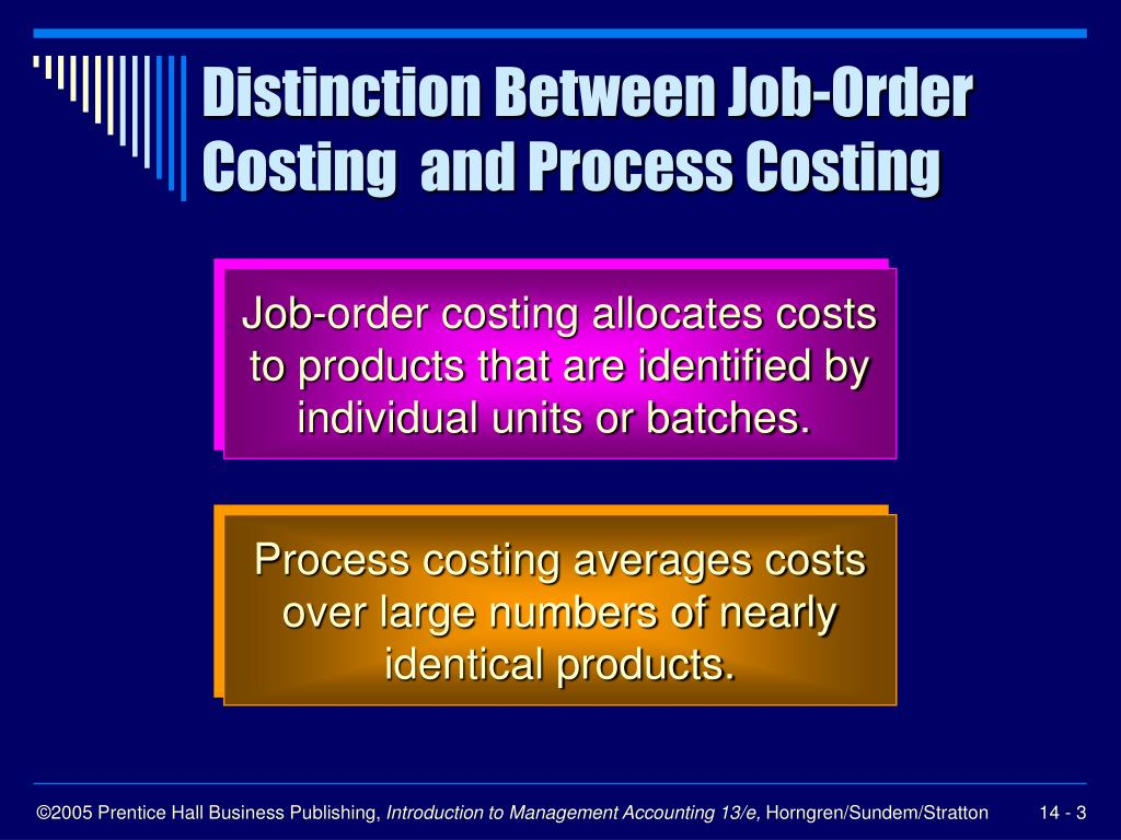 Distinction Between Job-Order Costing  and Process Costing