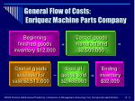 general flow of costs enriquez machine parts company9