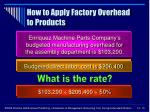 how to apply factory overhead to products