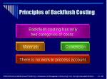 principles of backflush costing
