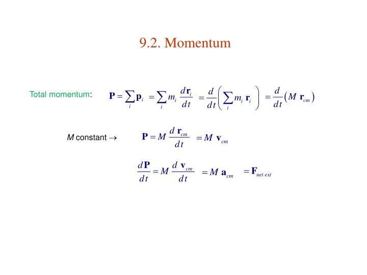 9.2. Momentum