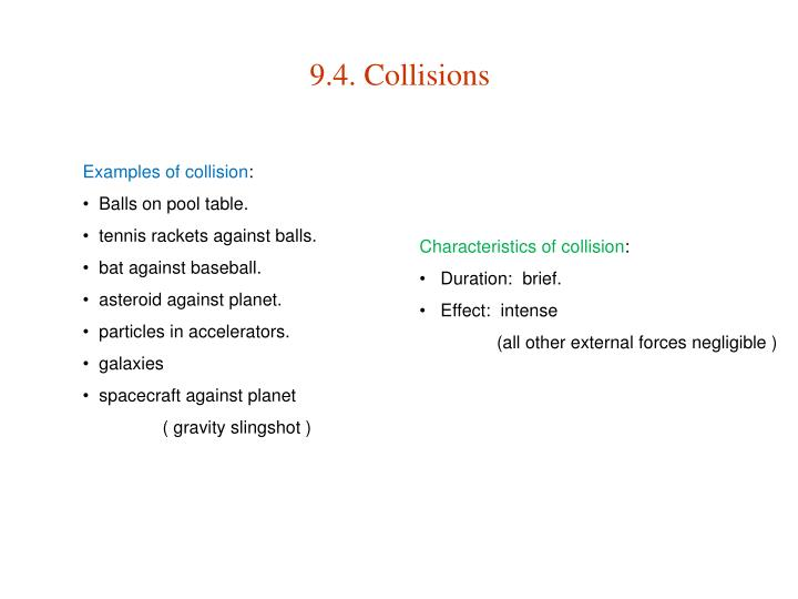 9.4. Collisions