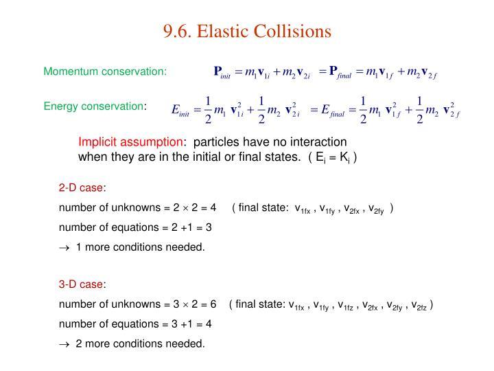 9.6. Elastic Collisions