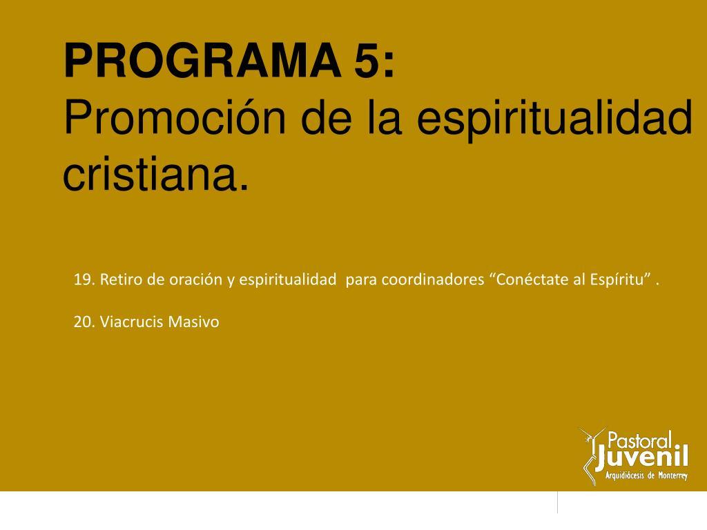 PROGRAMA 5: