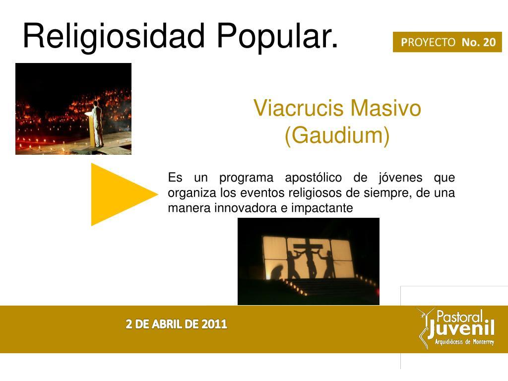 Religiosidad Popular.