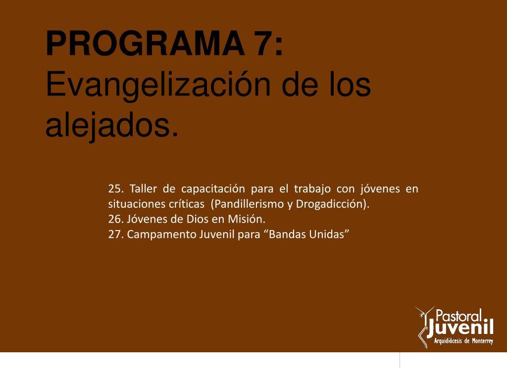 PROGRAMA 7: