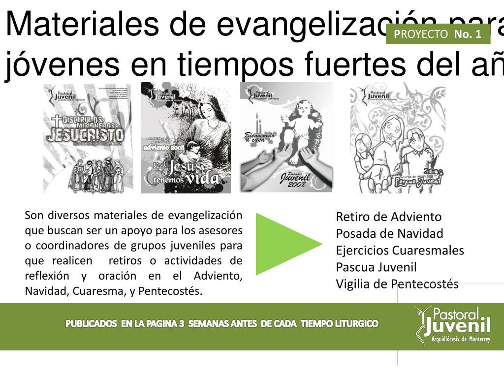Materiales de evangelización para