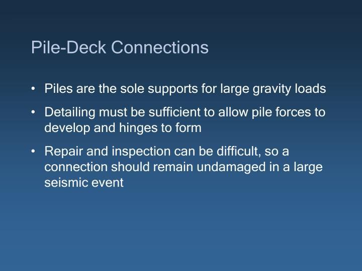 Pile-Deck Connections