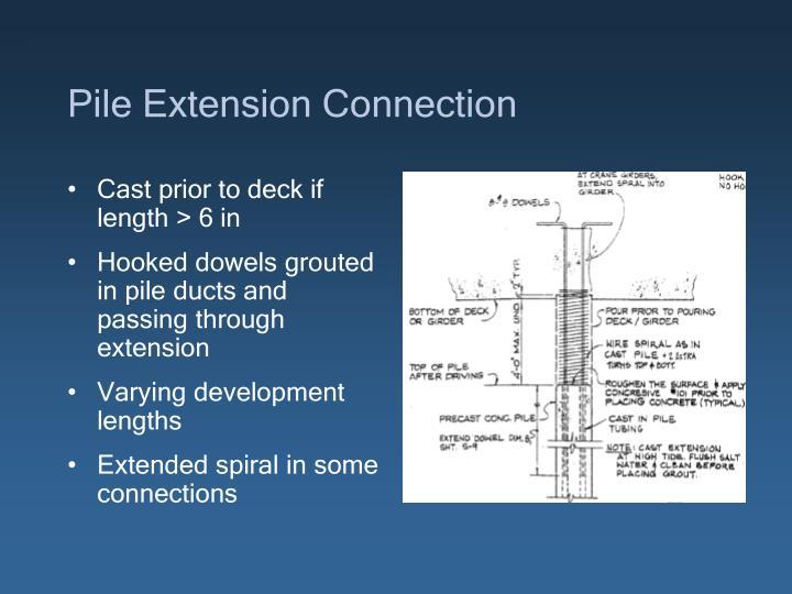Pile Extension Connection