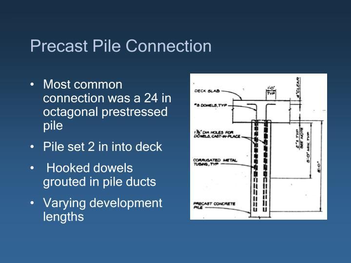 Precast Pile Connection