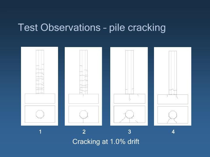 Test Observations – pile cracking