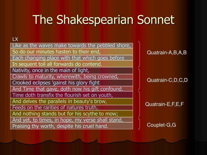 The Shakespearian Sonnet