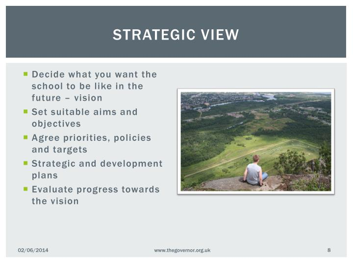 Strategic view