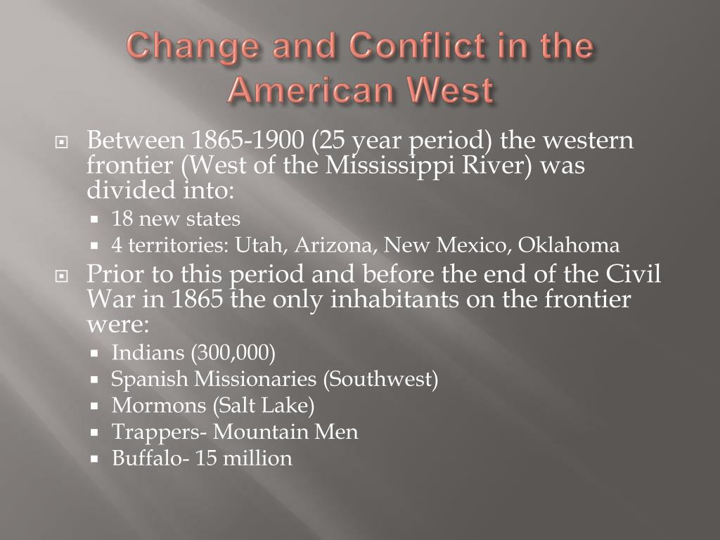 Change and Conflict in the