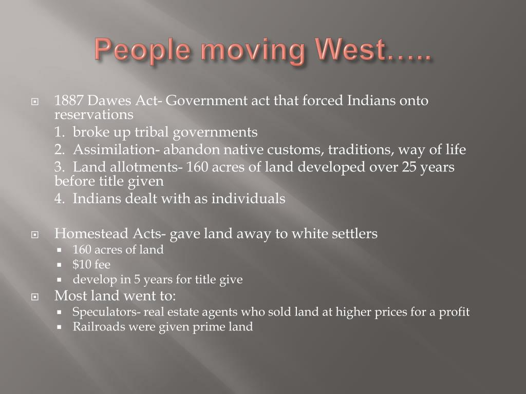 People moving West…..