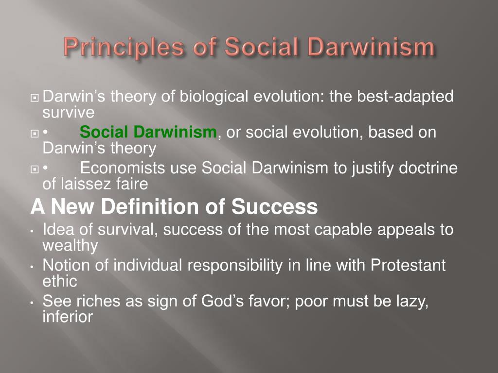 Principles of Social Darwinism
