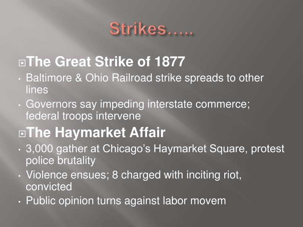 Strikes…..