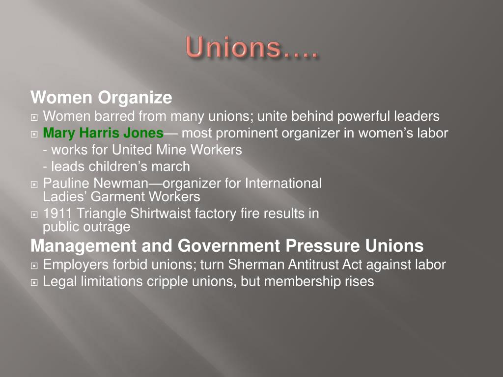 Unions….