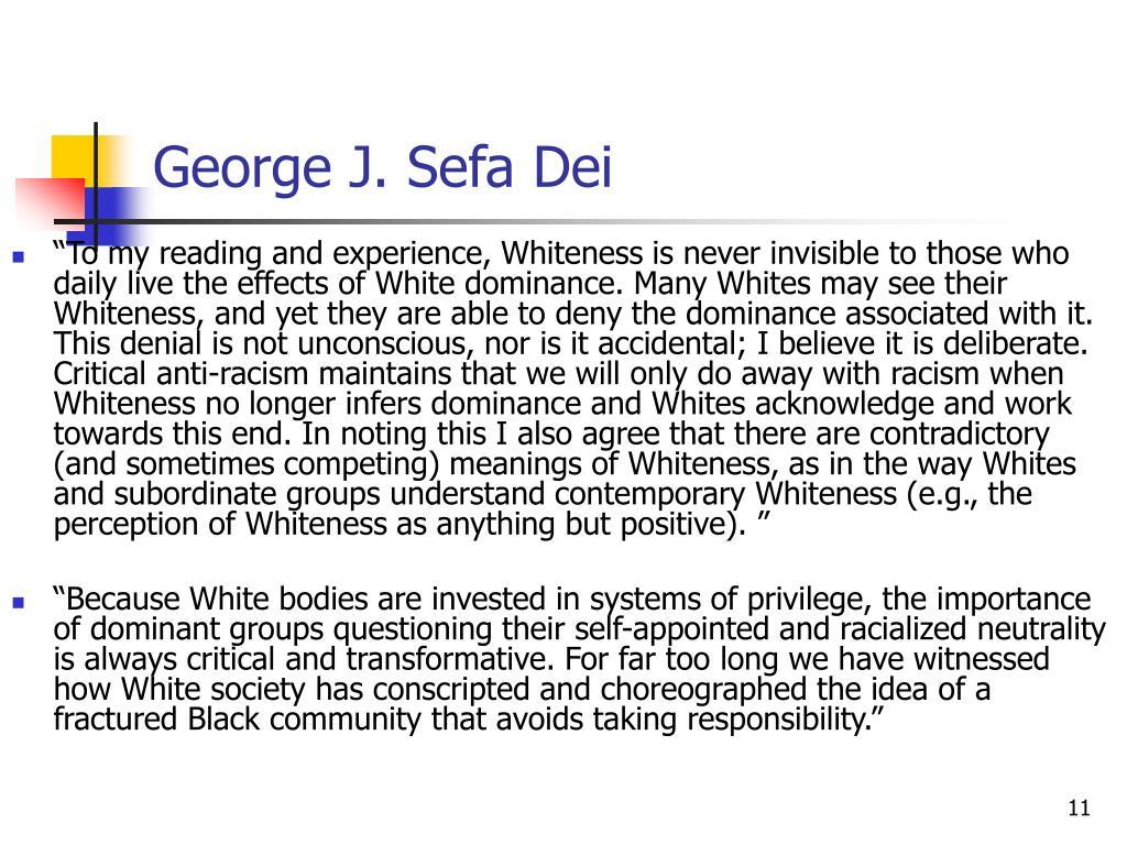 George J. Sefa Dei