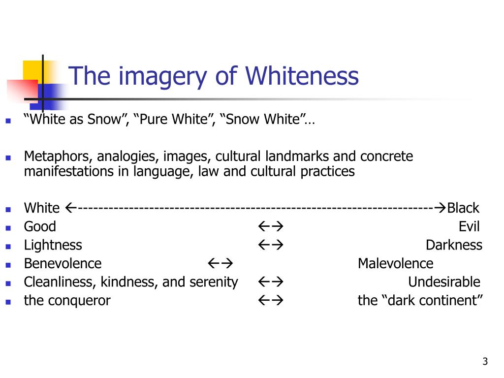 The imagery of Whiteness