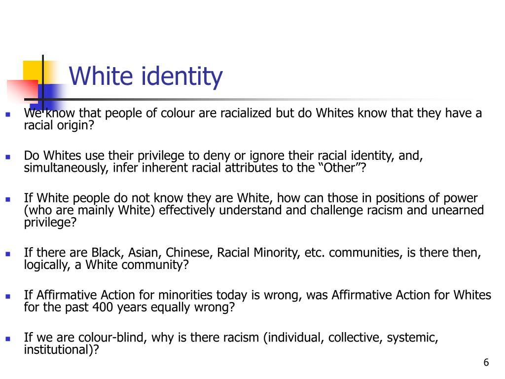 White identity