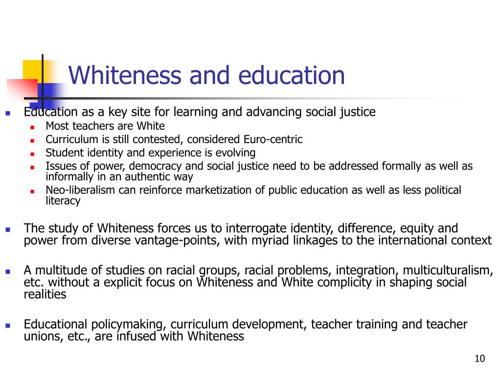 Whiteness and education